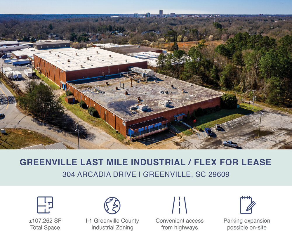 Greenville Last Mile Industrial / Flex Now Available